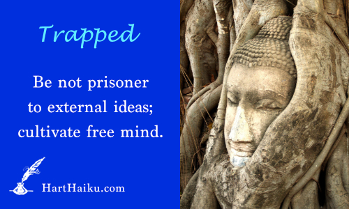 TRapped | Be not prisoner to external ideas; cultivate free mind. | HarHaiku.com